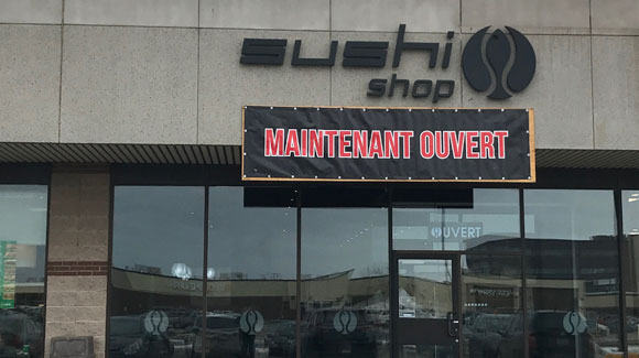 Sushi Shop Rivière du Loup - ouverture
